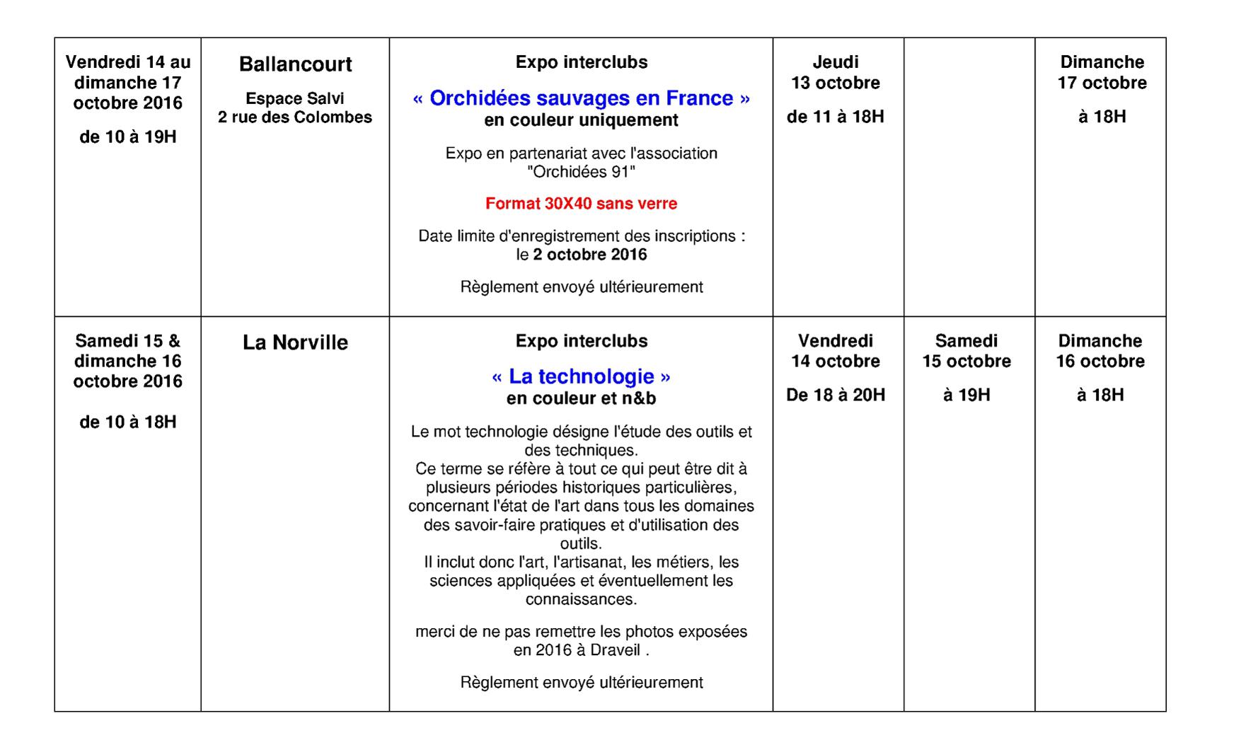 Planning prévisionnel des expos interclubs CDP91 saison 2016-17 version 02 page 2