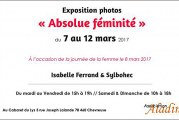 VERNISSAGE le samedi 11 mars à 19H00 de l'Expo «ABSOLUE FEMINITE» au Cabaret du Lys à Chevreuse