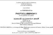 VERNISSAGE dePHOTOCLUBBING#11du photo-club de la MJC de Palaiseau le samedi 13 janvier 2018à partir de 19h