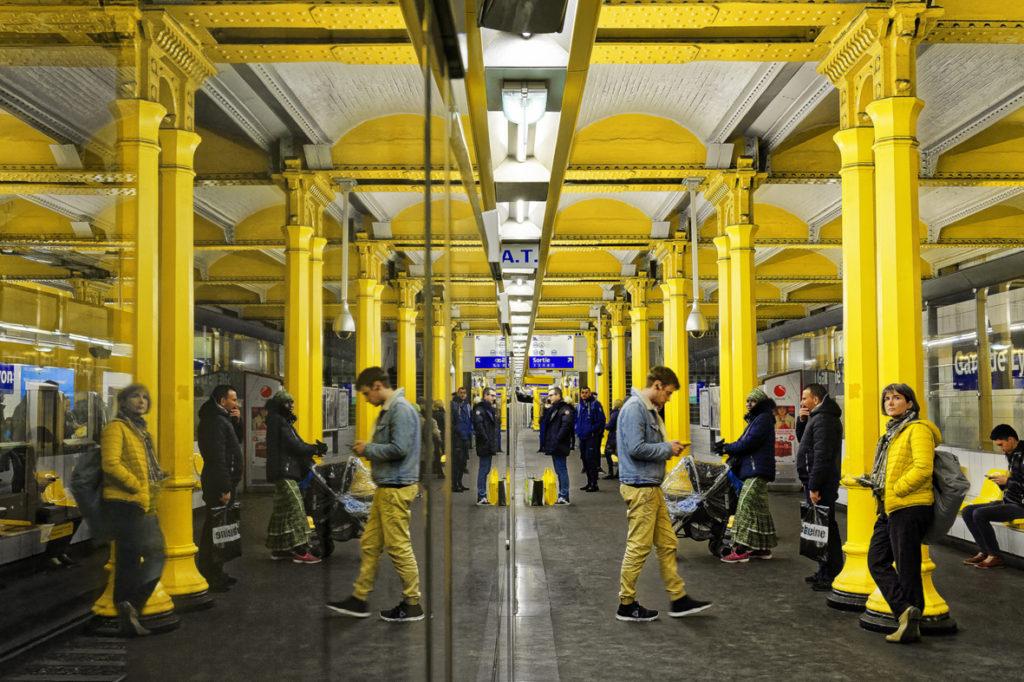"""Moeuf Alain / PC Draveil - """"quai jaune"""""""