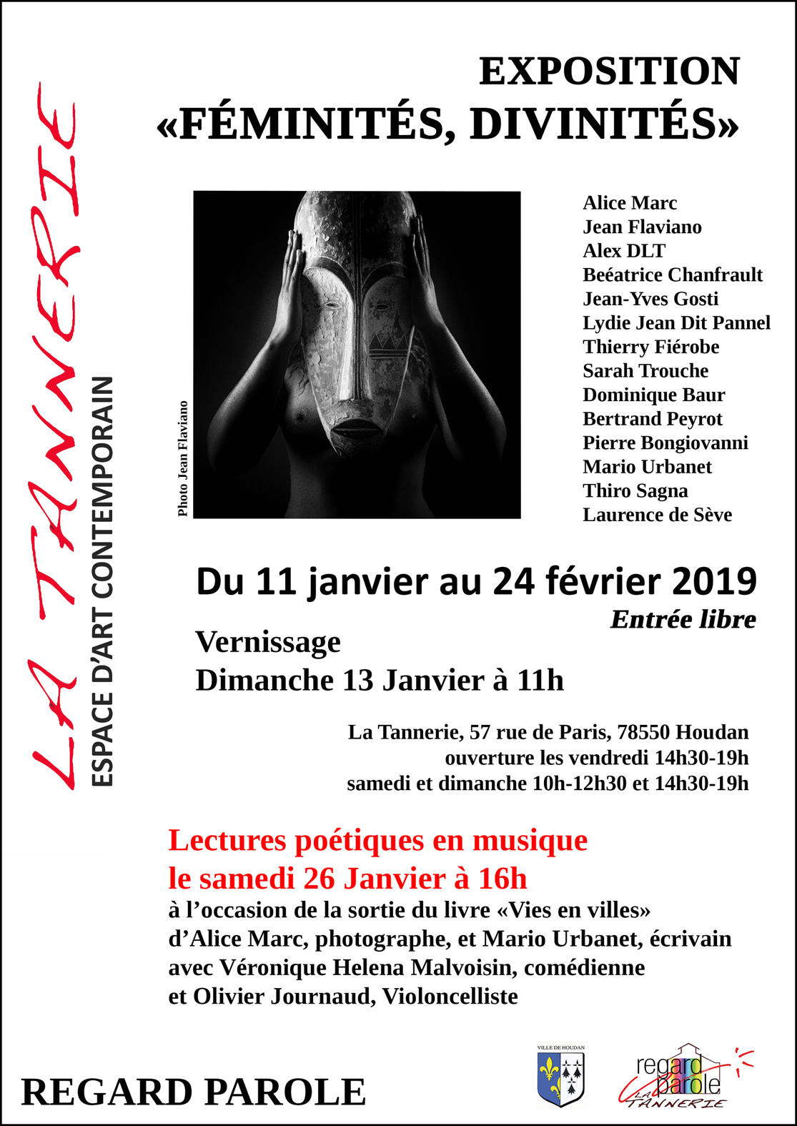 Expo photo de Alice Marc & Jean Flaviano, adhérent de L'Espace Photo, du 11 janvier au 24 février 2019 à l'Espace d'Art Contemporain La Tannerie à Houdan