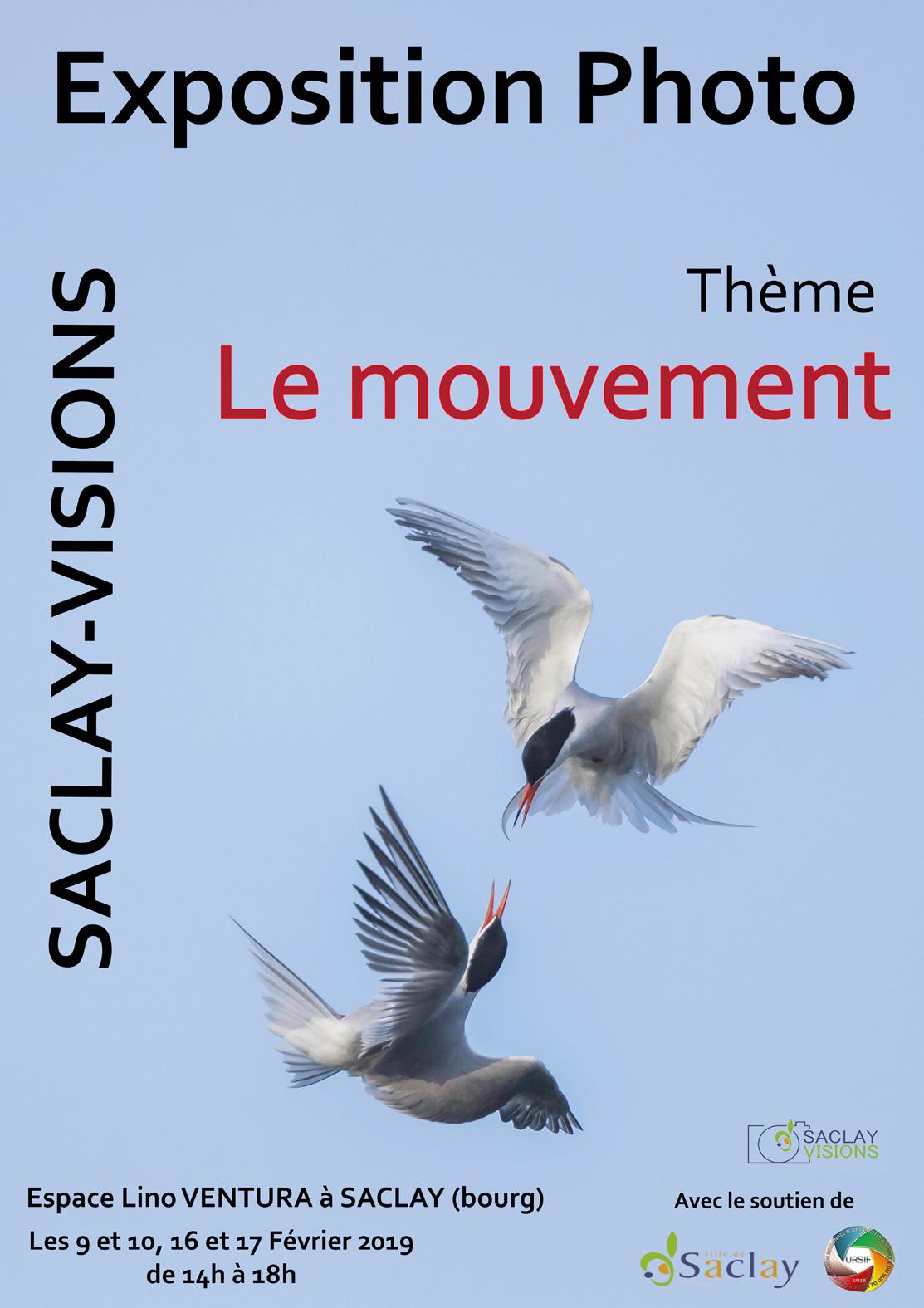 Expo interne du photo-club Saclay Visions sur le thème du «mouvement» les 9-10 & 16-17 février 19 à l'Espace Lino Ventura