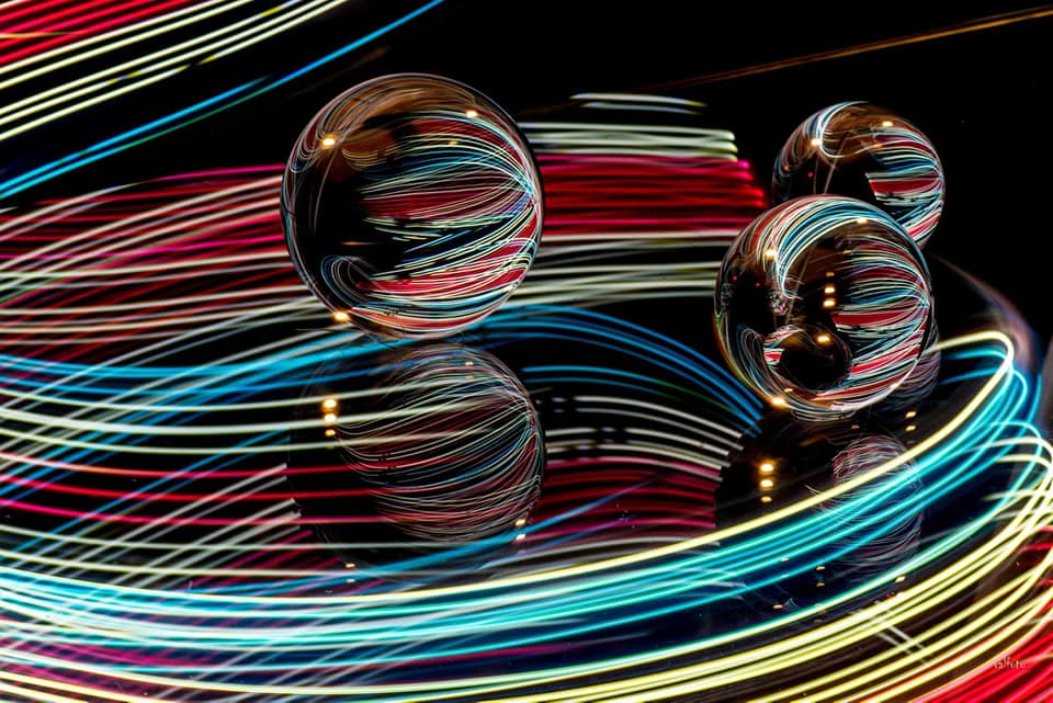 "3ème : "" Light painting "" de Brigitte Valzalez"