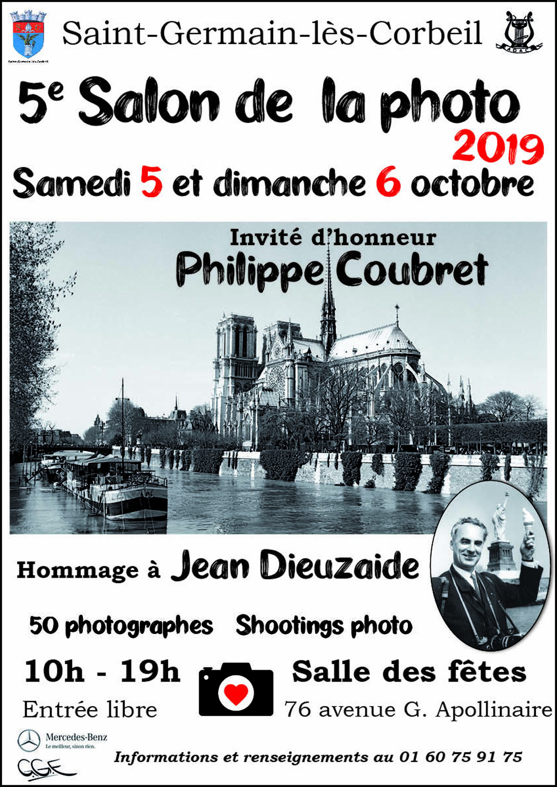 Photos de Robert Desgroppes exposées au 5ème Salon Photo de Saint- Germain-lès-Corbeil (vernissage le samedi 5 octobre 19 à 12h00