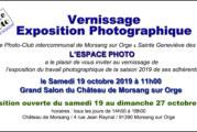 Invitation Vernissage de l'Exposition Photo des adhérents de L'Espace Photo, Samedi 19 octobre 2019