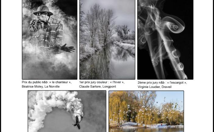 Palmarès de l'expo « paysages au fil des saisons «  (couleur) et «  fumées, volutes » (n&b) – Champlan – 18 au 20 octobre 19