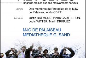 Exposition photo «Révoltes» de la MJC de Palaiseau ; vernissage le 17 novembre 16