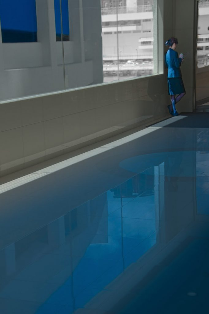 """Pool bleue"""