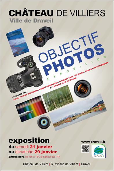 Exposition Objectif Photo du samedi 21 au dimanche 29 janvier au château de Villiers à Draveil (91210)