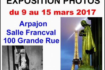 Le Photo-Club d'Arpajon vous invite à l'exposition de ses adhérents du 9 au 15 mars 17