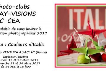 Expo «Couleurs d'Italie» des photo-clubs Saclay Visions et AAC-CEA les 18, 18, 25, 26 mars 17