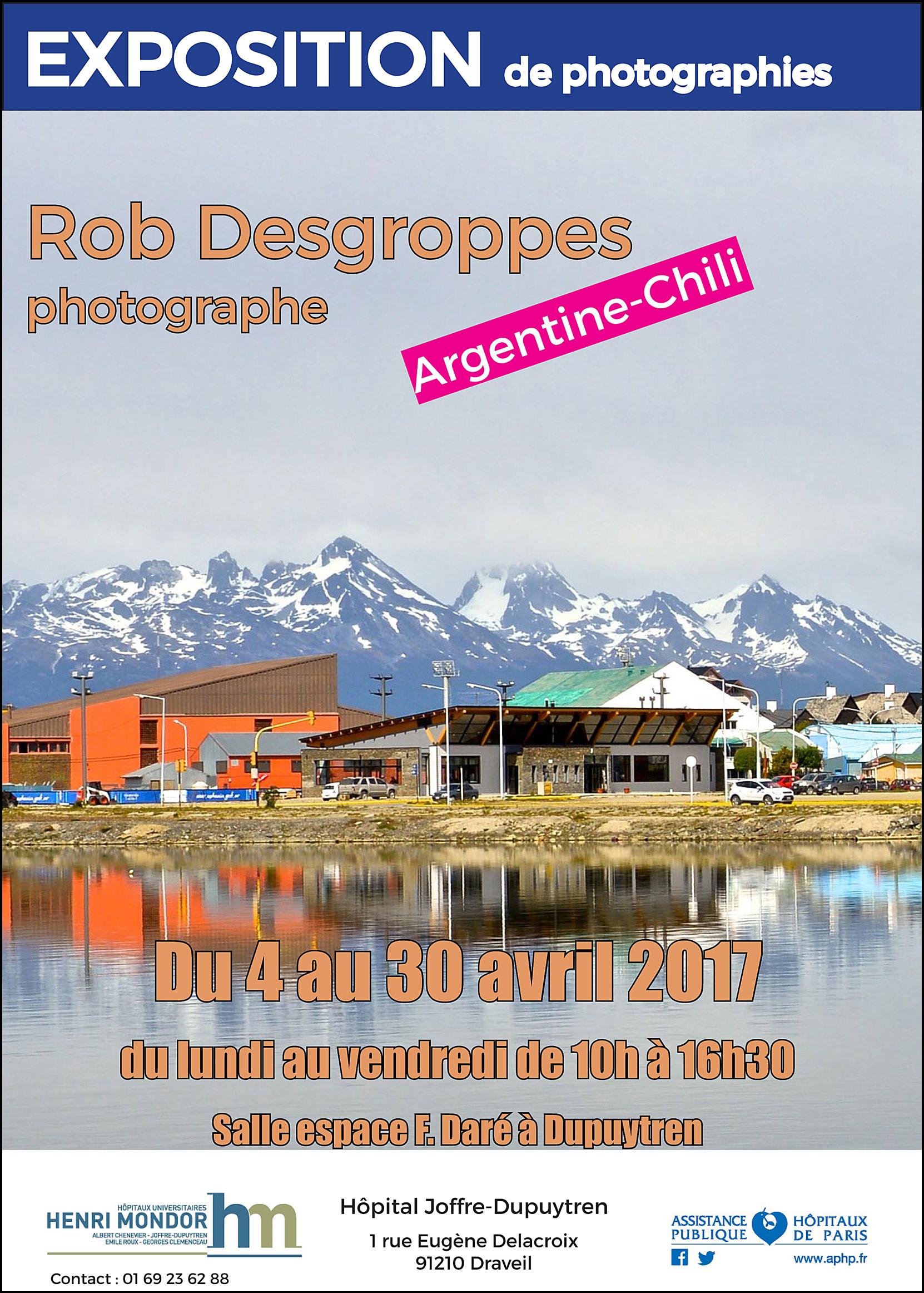 Exposition photo » Voyages de Rob » de Robert Desgroppes du 4 au 30 avril 2017 à l'Hôpital Joffre – Dupuytren à Draveil (91210)