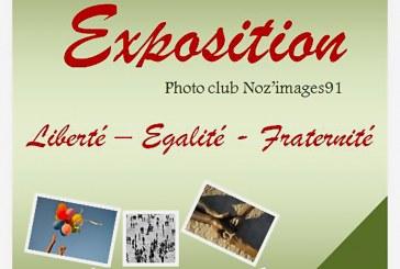Exposition photo du 7 au 25 novembre 17 du club Noz'images91 de Nozay sur le thème «liberté – égalité – fraternité»