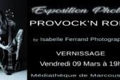 Expo photo «PROVOCK'N ROLL» d'Isabelle Ferrand du 9 au 25 mars 18 à la médiathèque de Marcoussis