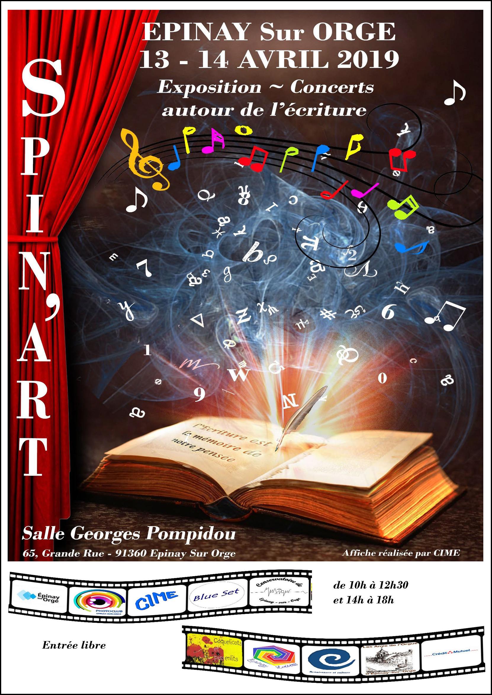 Photoclub d'Epinay sur Orge organise avec d'autres associations culturelles, un salon des Arts autour du thème commun «l'Ecriture».