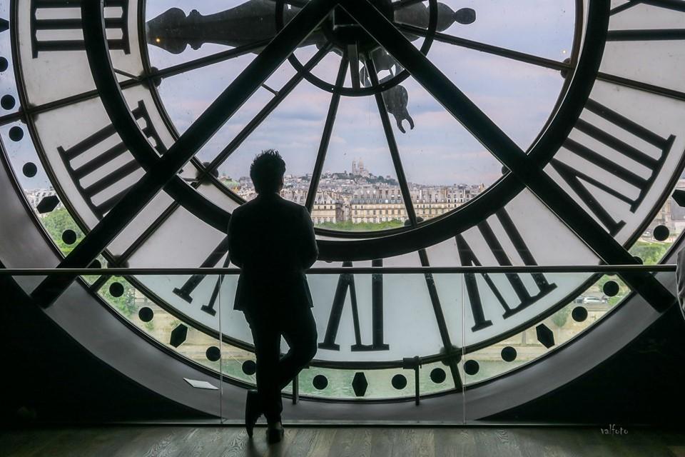 """3ème : """" Horloge du Musée d'Orsay """" de Brigitte Valzalez"""